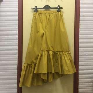 *Brand New* Korean style yellow raffle skirt 💛💛