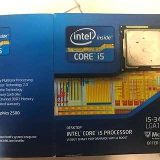 Intel core i5-3470 , 3.2ghz , 6MB cache LGA 1155 , 77W CPU