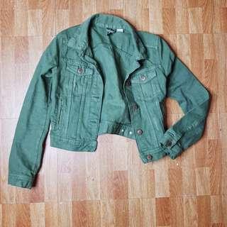 H&M Olive Green Denim Jacket