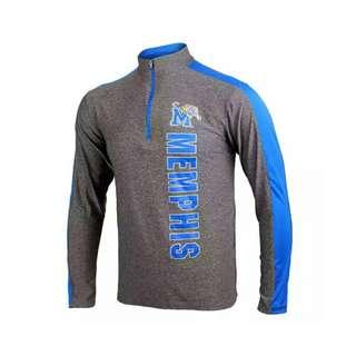 NCAA 美國大學 運動立領 半拉鏈 排汗 透氣 速乾 長袖T XL