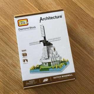 Brand new LoZ Diamond Blocks Dutch Windmill