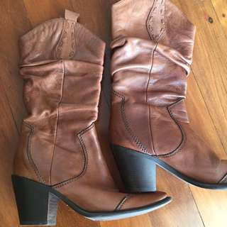 Size 37 Italian leather boots