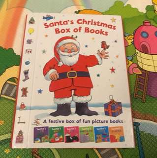 Santa's Christmas Box of Books