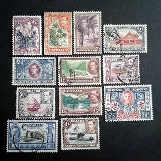 British colonies used stamps