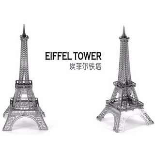 Eiffel Tower 3D DIY Nano Jigsaw Metallic Puzzle Toy Educational Kids Xmas Gift Idea