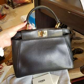 Authentic Fendi Peekaboo Crossbody Bag