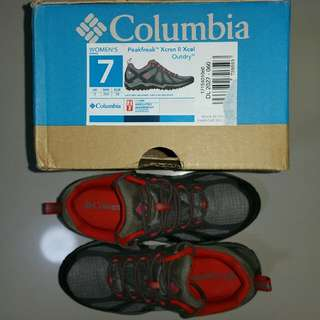 COLUMBIA Outdoor Trail Running Shoes, PEAKFREAK XCRSN II XCEL LOW OUTDRY Women Lady US Size 7 Wide, UK 5, EU 38, JP 24, Brand new perfect working condition, Flawless mint cosmetic outlook,