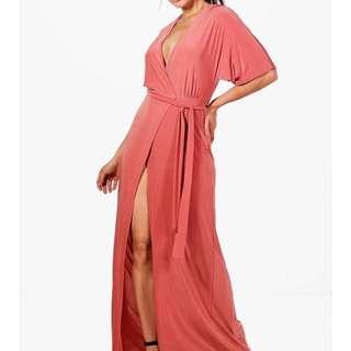 Kimono / Wrap Style Maxi Dress