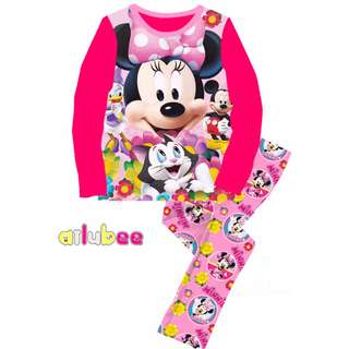 Pink MINNIE PET GARDEN Pyjamas (2Y-7Y)
