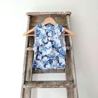 Monki blue sleeveless tank top