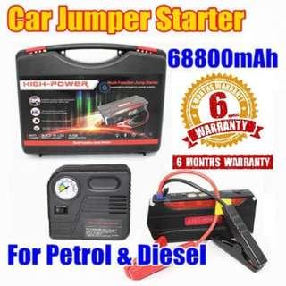 Heavy Duty 68800 mAh Multi-function Vehicle Car JumpStarter W/TirePump