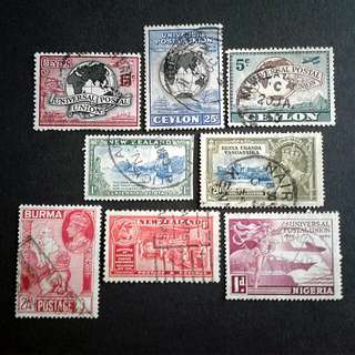 British colonies used stamps#1