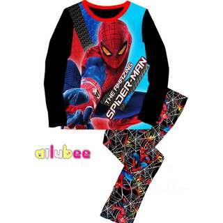 Black AMAZING SPIDER Pyjamas (2Y-7Y)