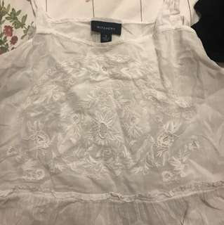 Wictchery white embroidered bohemian shirt
