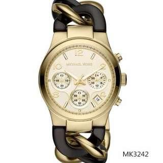 新款MK手錶 MK4222女士腕錶 雙色圓盤手錶 休閒商務手錶 簡約歐美不鋼帶石英錶 防水日曆腕錶 潮流休閑手錶 精準時間腕錶