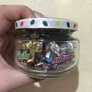 Christmas Chocolate Jar
