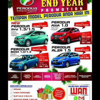 Perodua Cars end year sale 2017