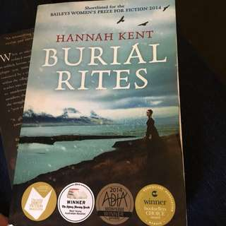 Yr12 English novel Burial Rites by Hannah Kent