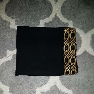 Arabian Black/Gold Shawl