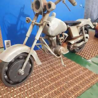 Motor bike for display