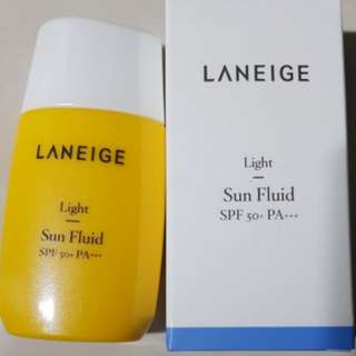 New 50ml Laneige Light Sun Fluid Sunblock Sun Block SPF50+