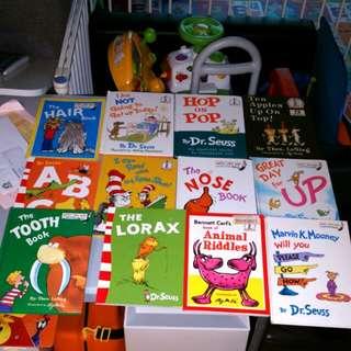 12 x Dr Seuss Books Lorax Hop on Pop Bright Early