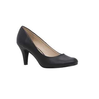 Black Mid-Heel Pump