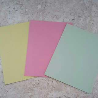 ♷3 x Brand New Paper Files
