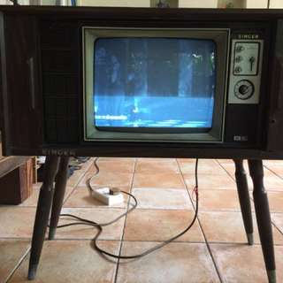 Antique TV set