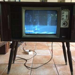 Antique TV set