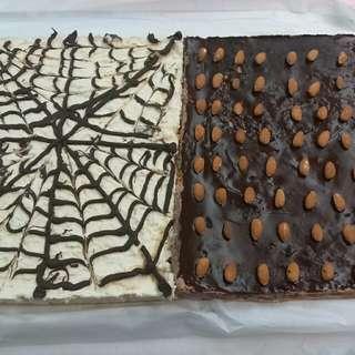 朱古力慕絲蛋糕及檸檬芝士蛋糕