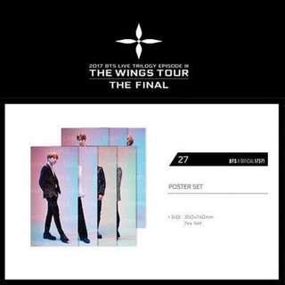 [UPCOMING READY STOCK]BTS WINGS TOUR THE FINAL IN SEOUL POSTER LOOSE ITEMS & EXTRA MINI LIGHTSTICK 1 PC