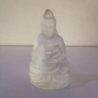 Pajangan / Patung Dewi Kwan Im Kristal Putih