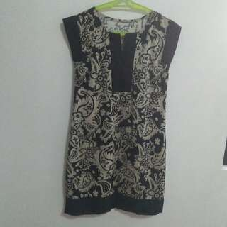 Black Dress Chinese Inspired