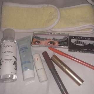 Take all 50rb. Lipstik, bulu mata, alis, cream, toner,bandana masker