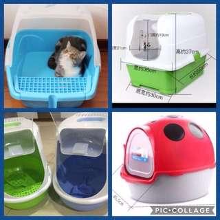 (NEW!) covered hood cat litter box