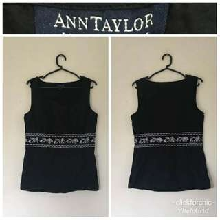 Ann Taylor Embroidered Top