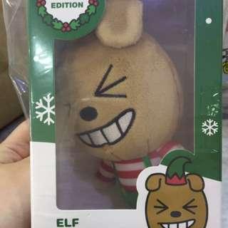 Kakao Friends x Mcdonald's Korea Xmas limited edition plushie - Elf Frodo