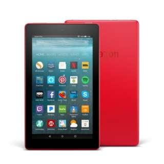Amazon Fire 平板電腦 7吋 8GB 紅色 2017年最新版