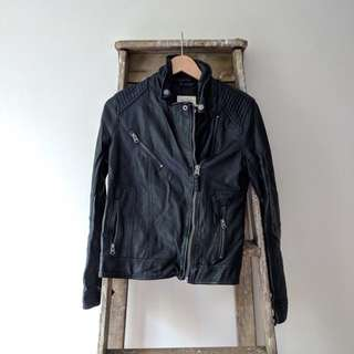 Abercrombie & Fitch (A&F) faux leather jacket (M)