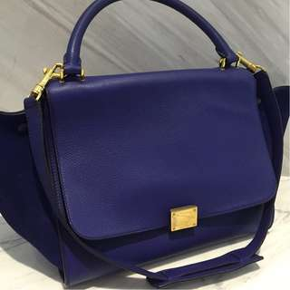 Celine Trapeze Large in Electric Blue with Strap