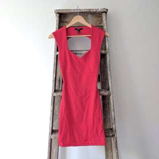 Tight red body dress (Forever 21) size 8