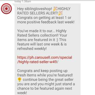 *4th time.. Thank you carousell!!**😊🙏