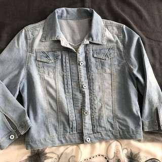 denim jacket 3/4 sleeve size M