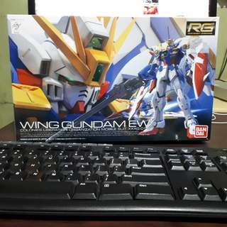 RG WING GUNDAM EW with bandai action base