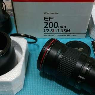 Canon EF 200mm f/2.8L II USM望遠追星(焦)鏡