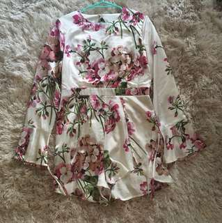 Missguided Floral Playsuit Size 14