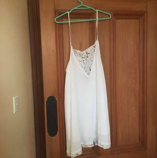White Glassons Swing Dress Size 14