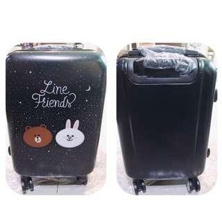 降價!全新 熊大限定版行李箱 LINE FRIENDS 熊大 星空版行李箱 20吋 登機箱 360度飛輪