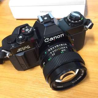 Canon AV-1 50mm F1.4 Top excellent condition.